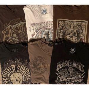 Lucky Brand Shirts - LUKCY BRAND JEANS MENS GRAPHIC T SHIRT 6 LOT XXL